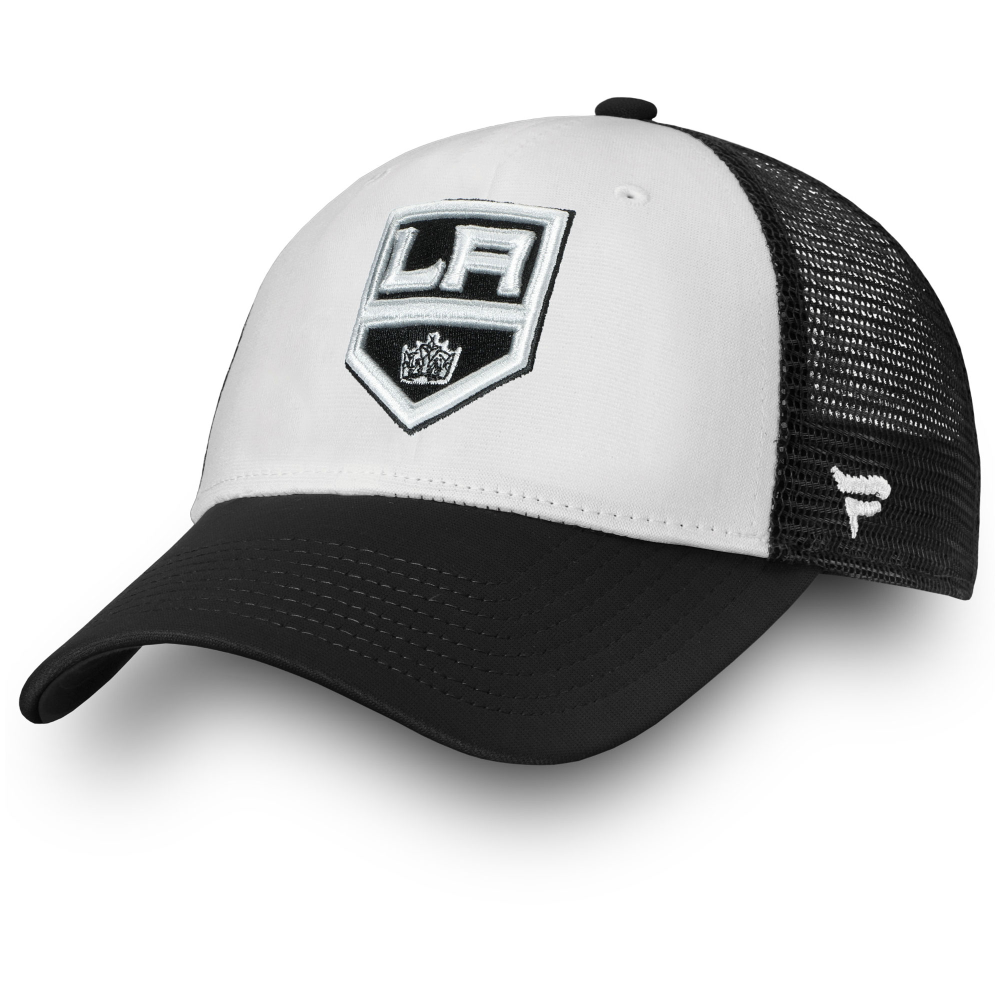 new product b1c94 65728 ... official store los angeles kings fanatics branded depth trucker adjustable  hat white osfa 5c0d2 e9516
