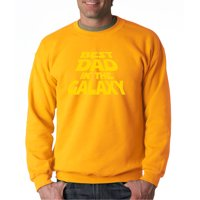 Trendy USA 715 - Crewneck Best Dad in The Galaxy Star Wars Opening Crawl Sweatshirt 2XL Light Pink