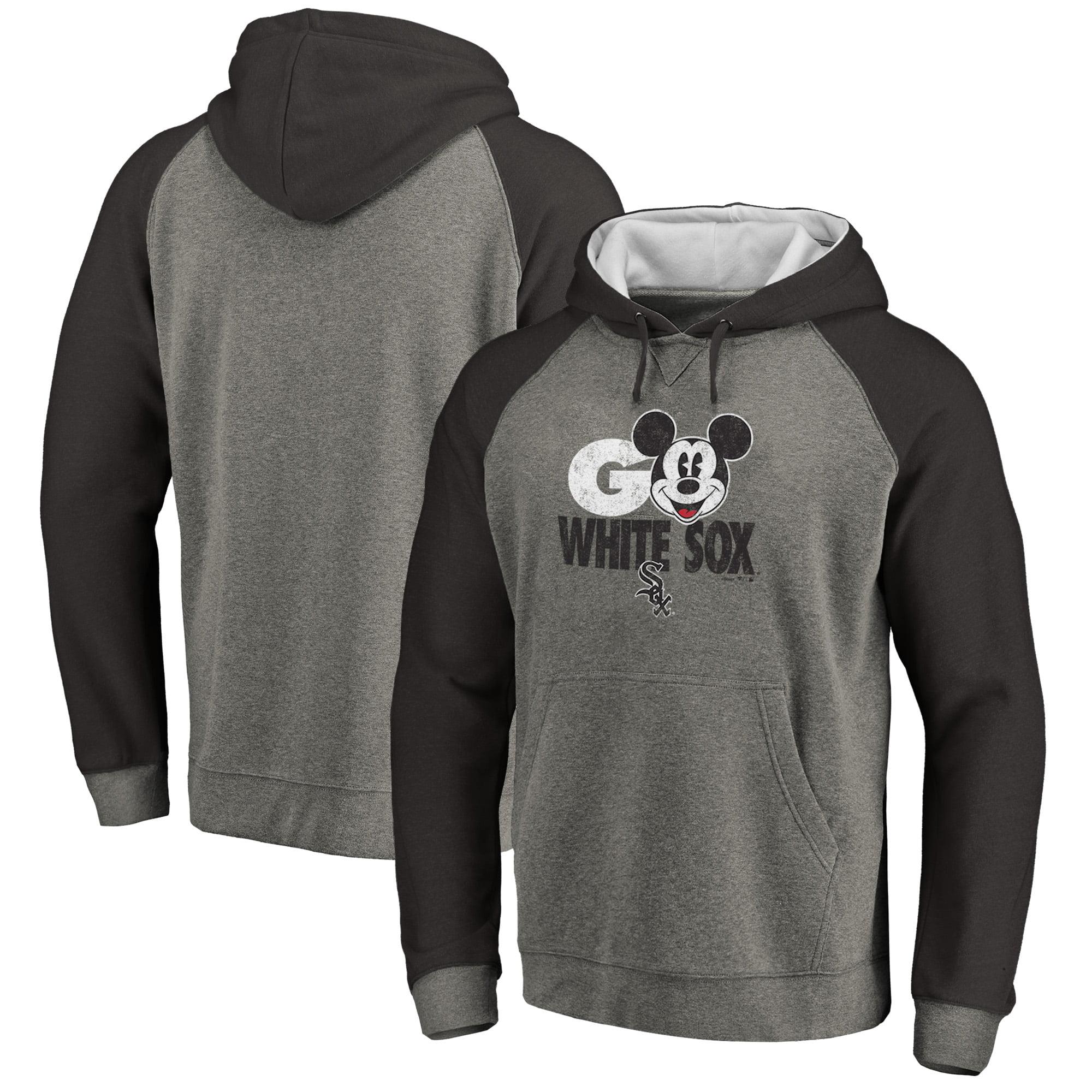 Chicago White Sox Fanatics Branded Disney Rally Cry Tri-Blend Raglan Pullover Hoodie - Ash