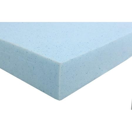4 inch high density gel memory foam queen size mattress topper. Black Bedroom Furniture Sets. Home Design Ideas