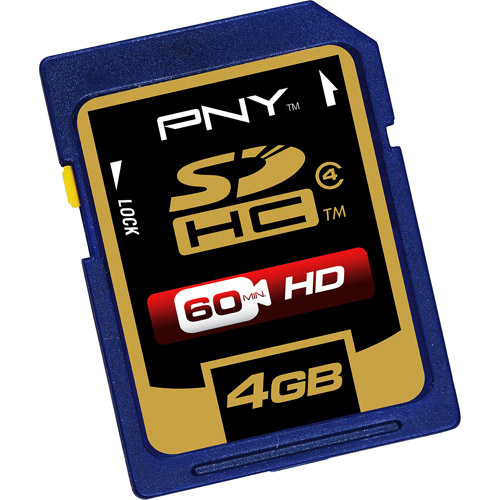 PNY 4GB SDHC Memory Card, Class 4