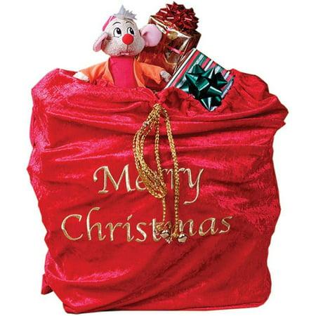 Fun World Santa Sack One Size This beautiful velvet bag measures 30 in, Style FW7534 - Sack Racing Bags