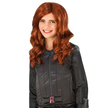 Captain America: Civil War Black Widow Child Wig](Red Wig For Kids)