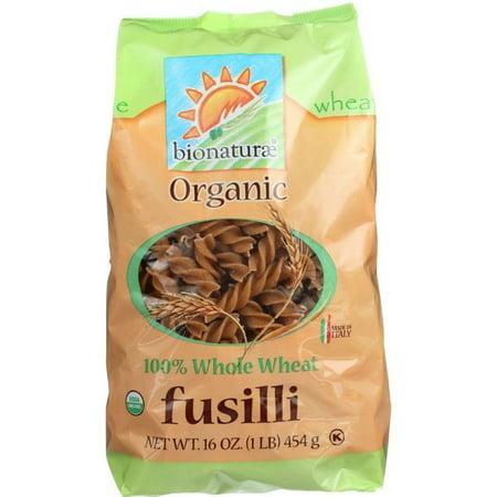 Bionaturae Organic Pasta - Bionaturae Pasta - Organic - 100 Percent Whole Wheat - Fusilli - 16 Oz - pack of 12