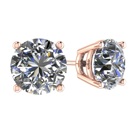 f0181f877 NANA - 1.10cttw Swarovski Zirconia Round CZ Solitaire Stud Earrings Sterling  Silver & Hypoallergenic Stainless Steel Post Rose Gold Plated - Walmart.com