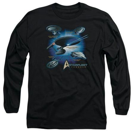 Star Trek Starfleet Vessels Mens Long Sleeve Shirt