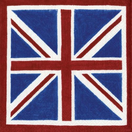 Entertaining with Caspari Union Jack Paper Cocktail Napkins, Pack of 20