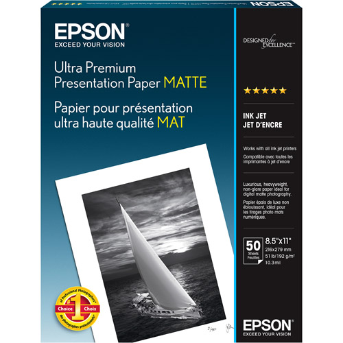 "Epson Archival Sheet Photographic Papers, 8.5"" x 11"""