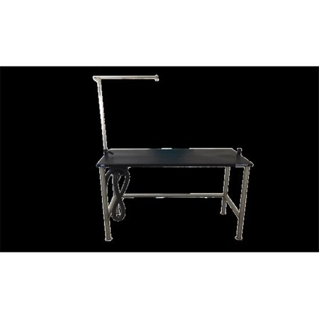 Groomers Best GB60TST 60 in. Stainless Steel Stationary Grooming Table with Arm 36 (Groomers Best Friend Table)