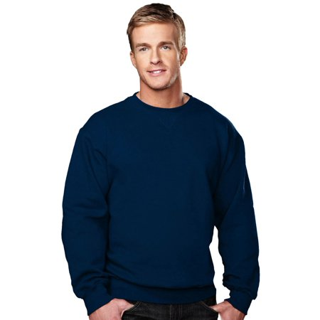 Tri-Mountain Men's Big And Tall V Patch Crewneck Sweatshirt Big And Tall Sweatshirts