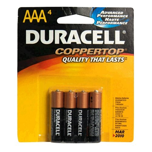 Duracell Coppertop Aaa Batteries, 4 Count ( MN2400B4Z )
