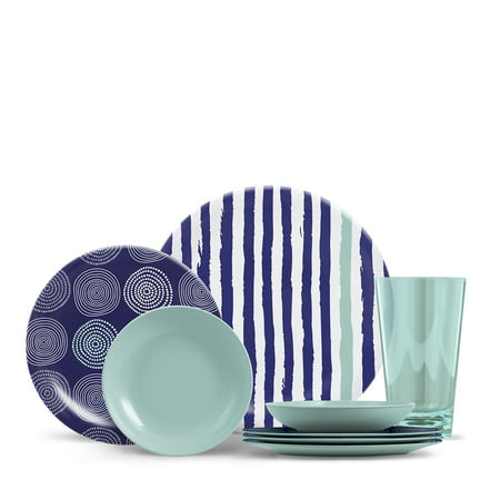 ThermoServ Everyday Collection Cora 16 Piece Melamine Dinnerware Set