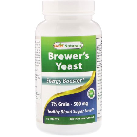 Best Naturals Brewer's Yeast 500 mg Per Serving, 240