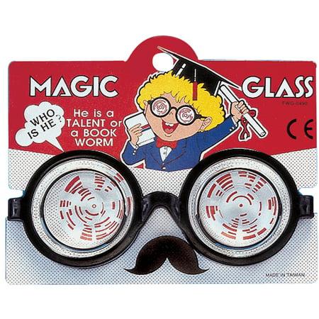 Star Power Nerd Geek Round Magic Glass Glasses, Black, One Size (Black Geek Glasses)