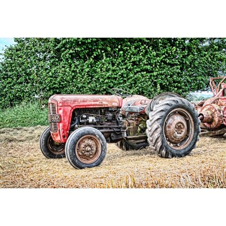 Laminated Poster Vintage Tractor Agriculture Farming Equipment Farm Poster Print 11 x 17