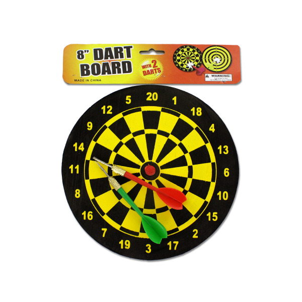 Dart Board With Darts (Pack Of 12) by Bulk Buys