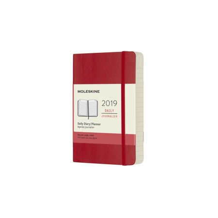 Moleskine (Red) 2019 Softcover Daily Pocket Planner, Moleskine by Calendars