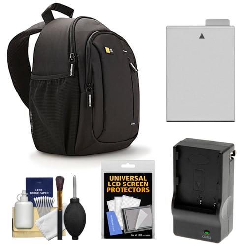 Case Logic TBC-410 Digital SLR Camera Sling Case (Black) with LP-E8 Battery & Charger + Accessory Kit for Canon Rebel T3i, T4i , T5i