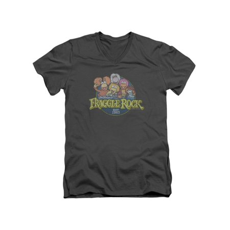 Fraggle Rock TV Series Est. 1983 Characters Adult V-Neck T-Shirt Tee ()