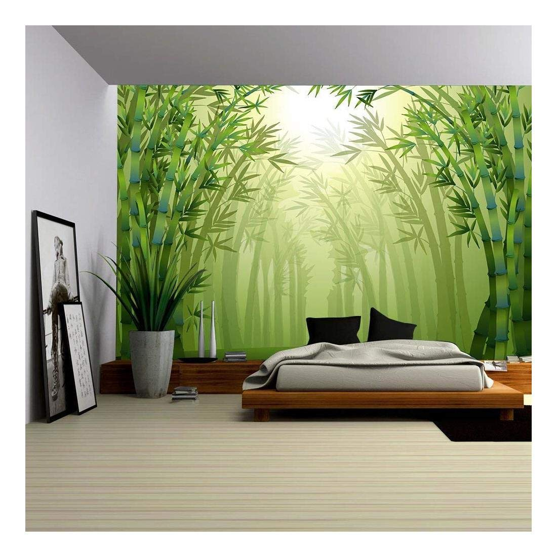 Forest Hiking Trail Green Trees Wall Mural Photo Wallpaper GIANT WALL DECOR