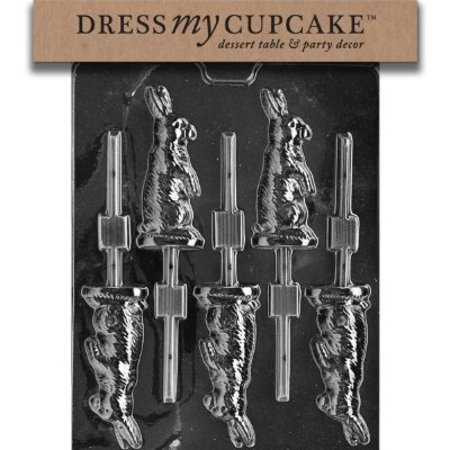 Dress My Cupcake Chocolate Candy Mold, Sitting Bunny Lollipop, Easter - Easter Cupcake