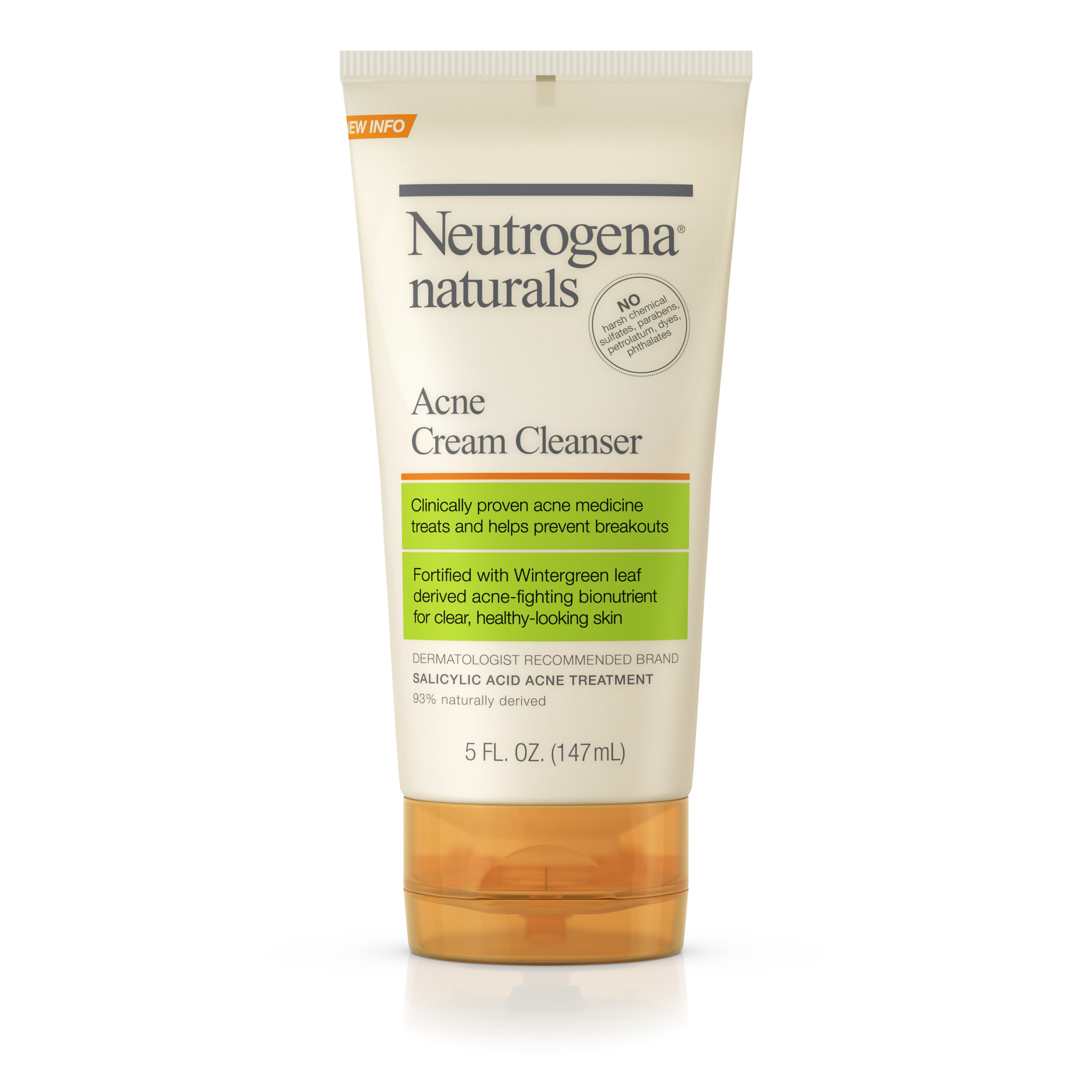 Neutrogena Naturals Acne Cream Cleanser, 5 Oz - Walmart.com