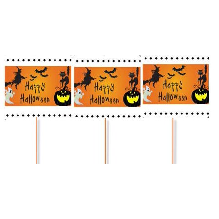 Happy Halloween Witch and Ghost Party Cupcake Picks -24pack](Happy Halloween Ghouls)