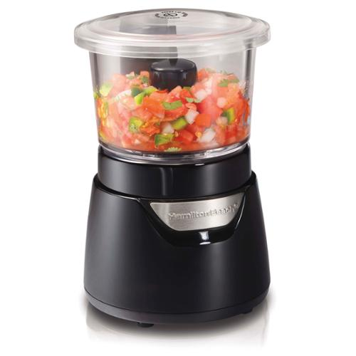 Hamilton Beach Stack & Press 3-Cup Glass Bowl Chopper, 72860