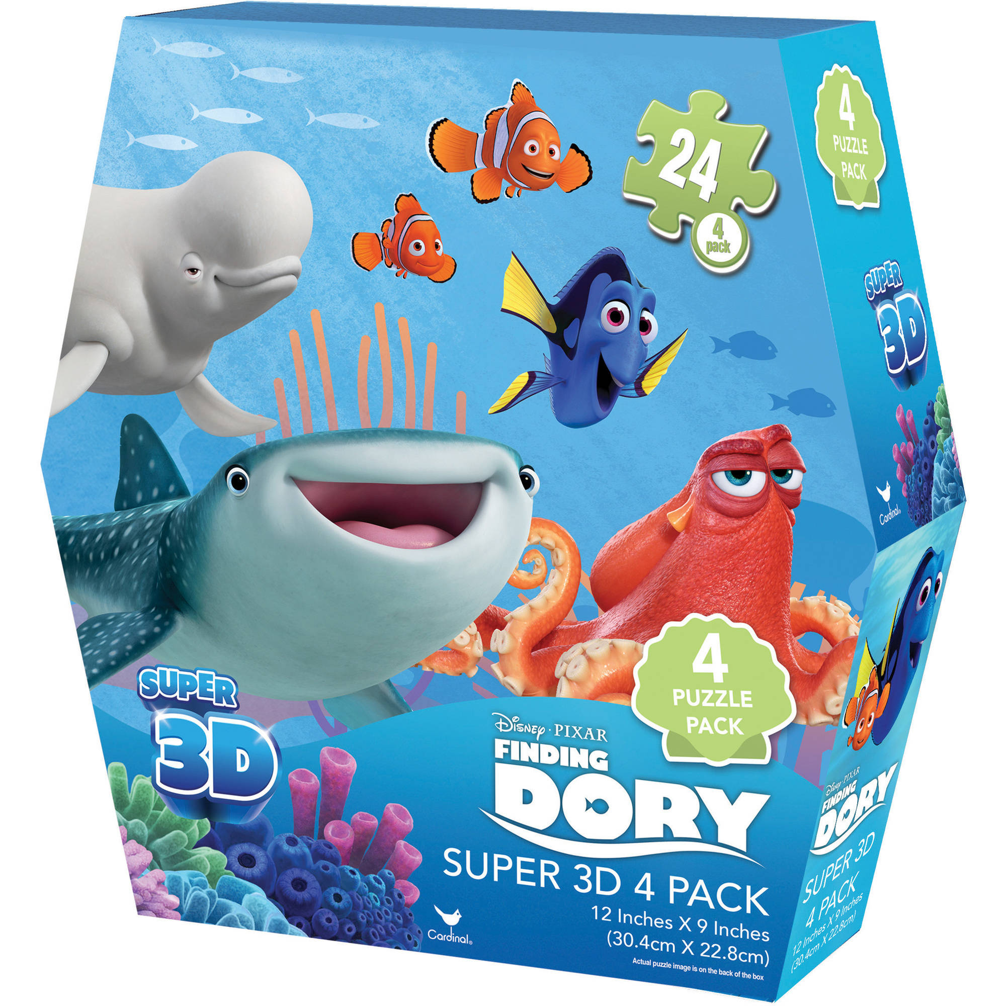 Disney Finding Dory Super 3D Puzzles, Pack of 4