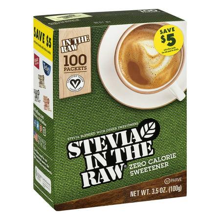 Stevia in the Raw Zero Calorie Sweetener, 100 count, 3.5 ...