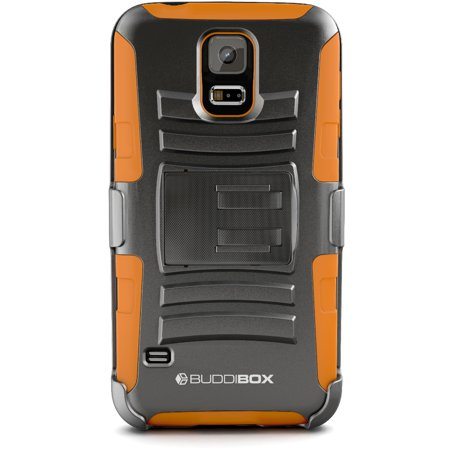 BUDDIBOX [HSERIES] Galaxy S5 Case Heavy Duty Durable Belt Clip Holster Protective Cover Case for Samsung Galaxy S5 ()