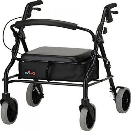 NOVA Medical Products 20 Zoom Rolling Walker, Black