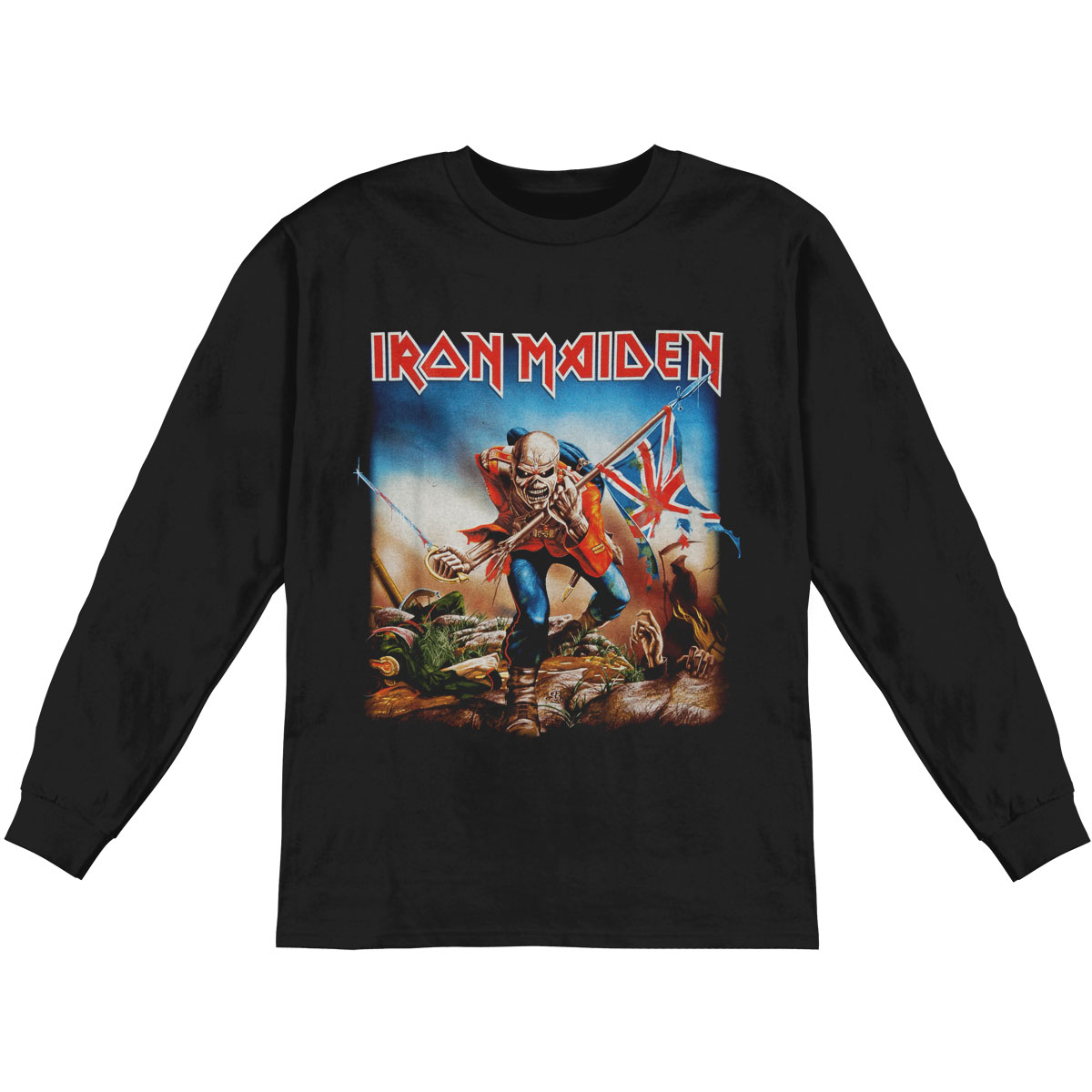 Iron Maiden Men's  Trooper  Long Sleeve Black
