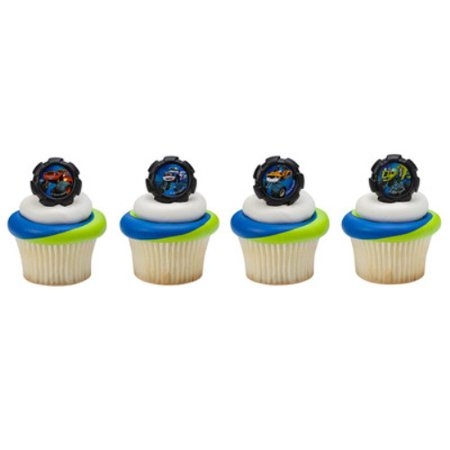 Blaze and the Monster Machines Wheels Cupcake Rings - 24 Rings