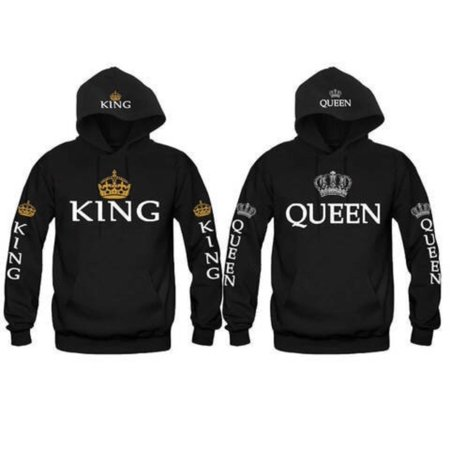KING AND QUEEN HOODIES VALENTINE NEW MULTI COLORS MATCHING CUTE LOVE