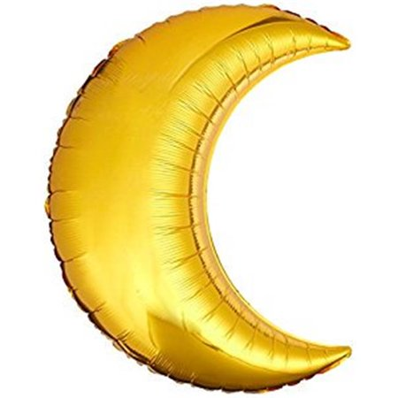 Anagram 41187 26 in. Gold Crescent Foil Flat Balloon