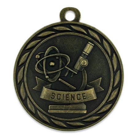 Gold Science Single and Bulk School Award Medals (Bulk Medals)