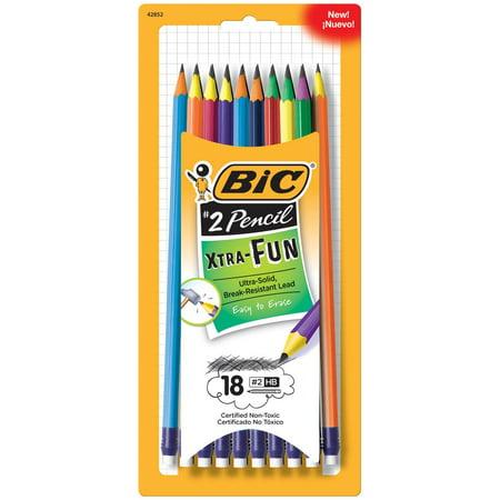 Xtra-Fun Graphite Pencil, 2 HB, 18-Count BIC - 18