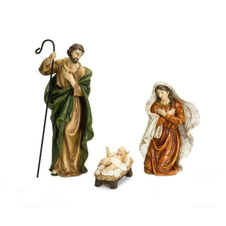 Set of 3 Antique Style Holy Family Nativity Christmas Figurines 20