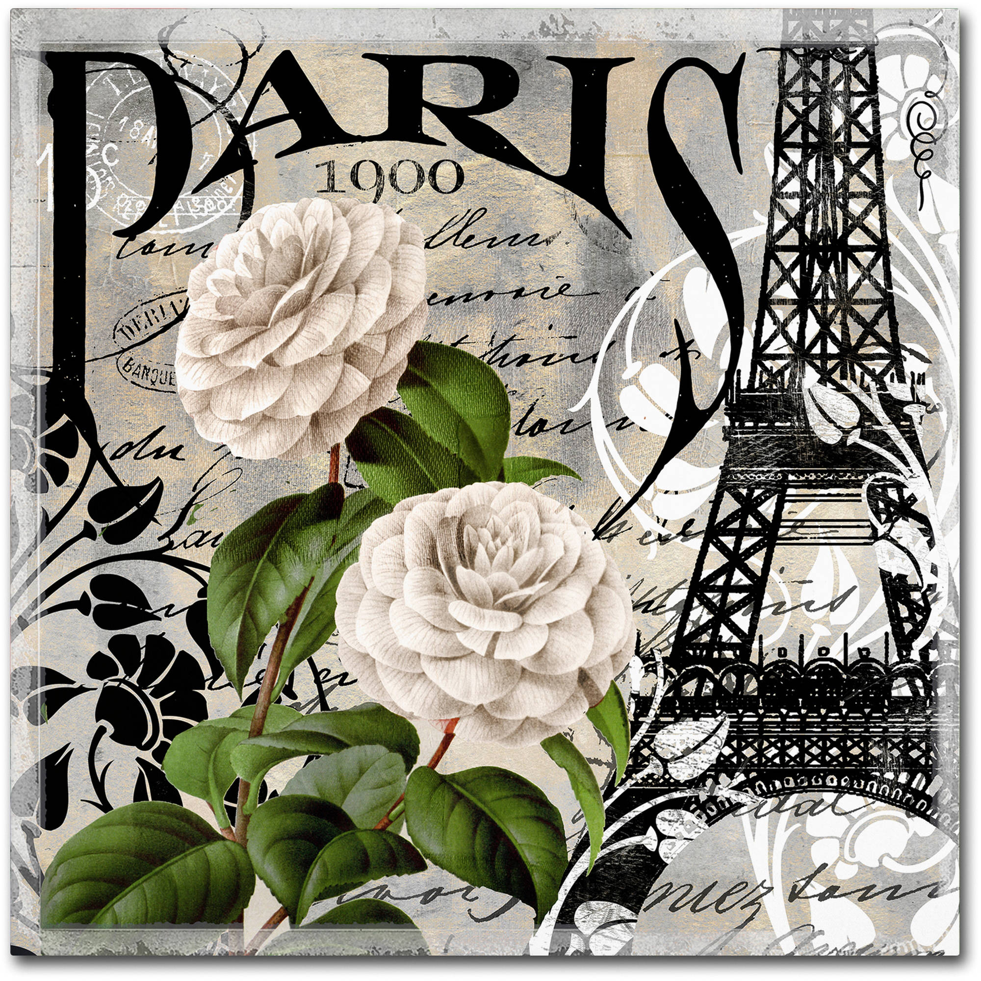 "Trademark Fine Art ""Paris Blanc II"" Canvas Art by Color Bakery"