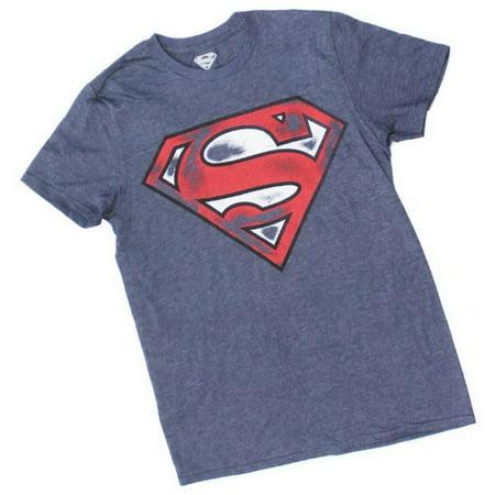 Superman Mens Shield Logo T-Shirt Tee Shirt Super Hero DC Comics DCSUPERMAN-NAVY](Superman Suits For Sale)