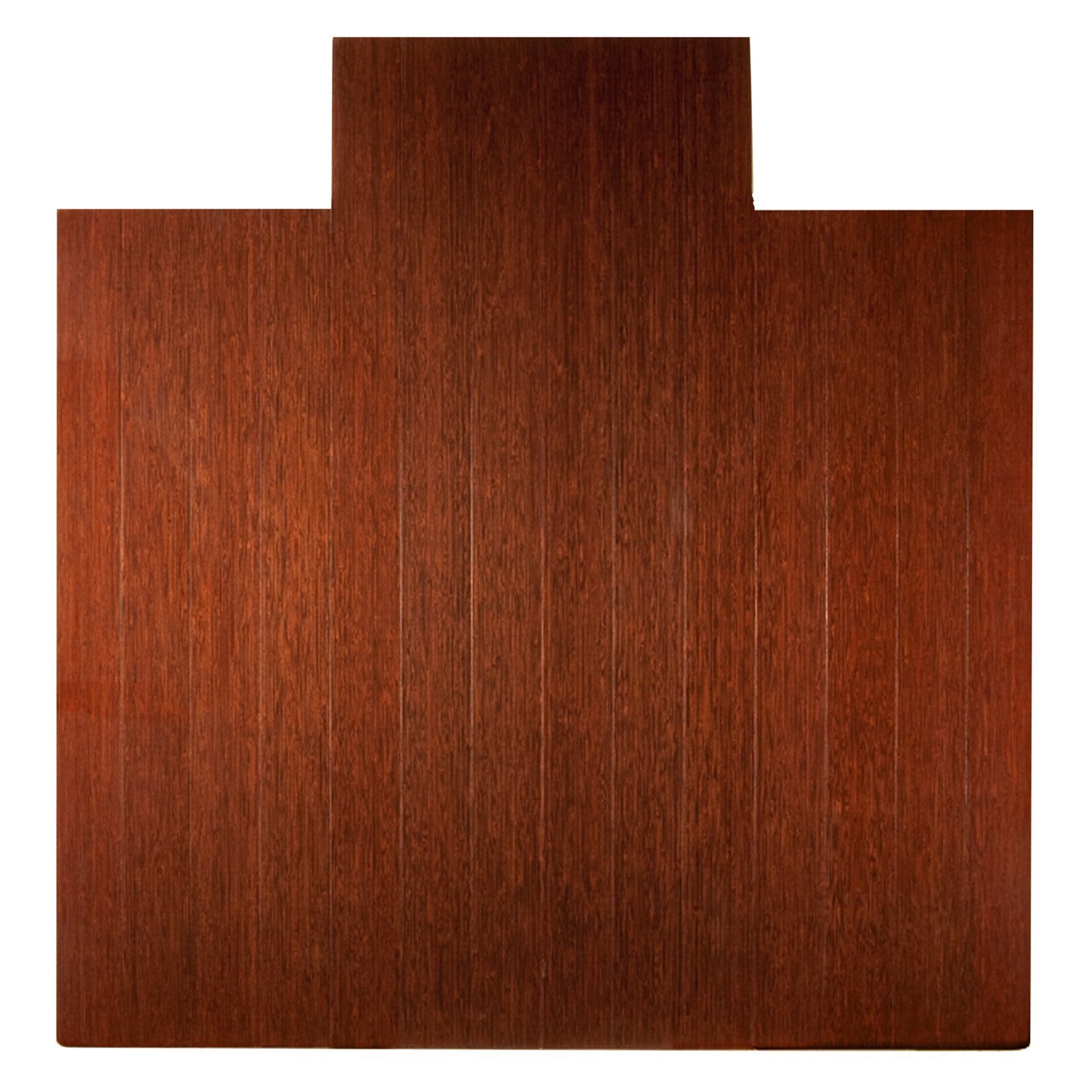 "Bamboo Deluxe Roll-Up Chairmat, No Lip-Color:Dark Cherry,Size:60""L x 48""W"