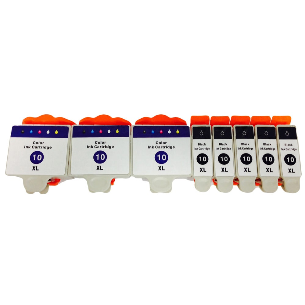 PRINKO IMAGE CO KODAK 10 Color Set EASYSHARE 5000 3200 5200 7200 9200 ESP 3 5 7 9 ESP Office 6100 Ink Cartridge (Pac