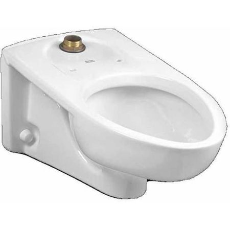 American Standard 3354.101.020 Afwall Millennium Flowise Elongated Toilet with Everclean and Rim Slotted for Bedpan, White American Standard Afwall Wall