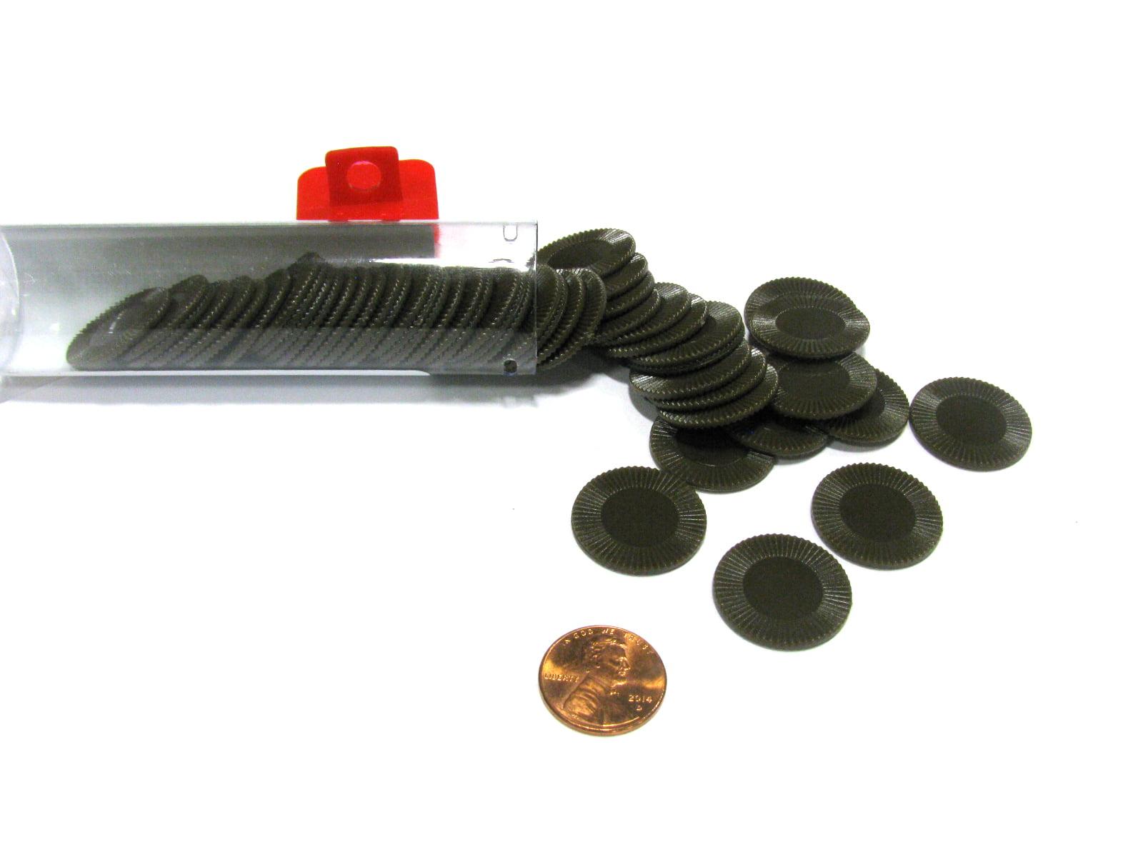 Brown Mini Poker Chip 7 8in Tube of 50ea by Koplow Games