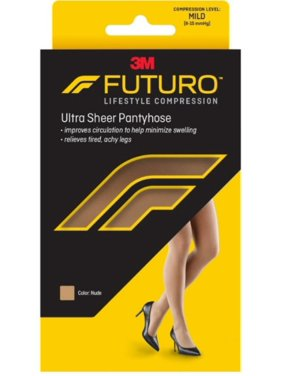 651a102775a Product Image 3 Pack - FUTURO Energizing Ultra Sheer Pantyhose For Women  French Cut Mild Plus Nude