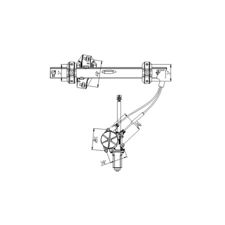 Replacement Front Driver And Passenger Window Regulator