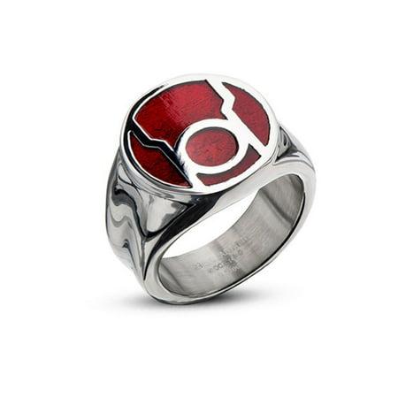 DC Comics Red Lantern Corps Rage Stainless Steel Ring | 12 ()