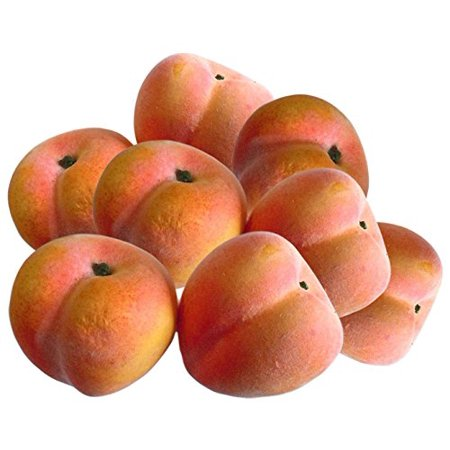 Artificial Peaches for Decoration - Set of 8