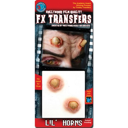 Lil Horns Small 3D FX Tattoos Halloween Accessory (Fx Contact Lenses Halloween)